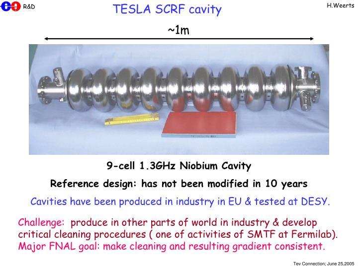 TESLA SCRF cavity