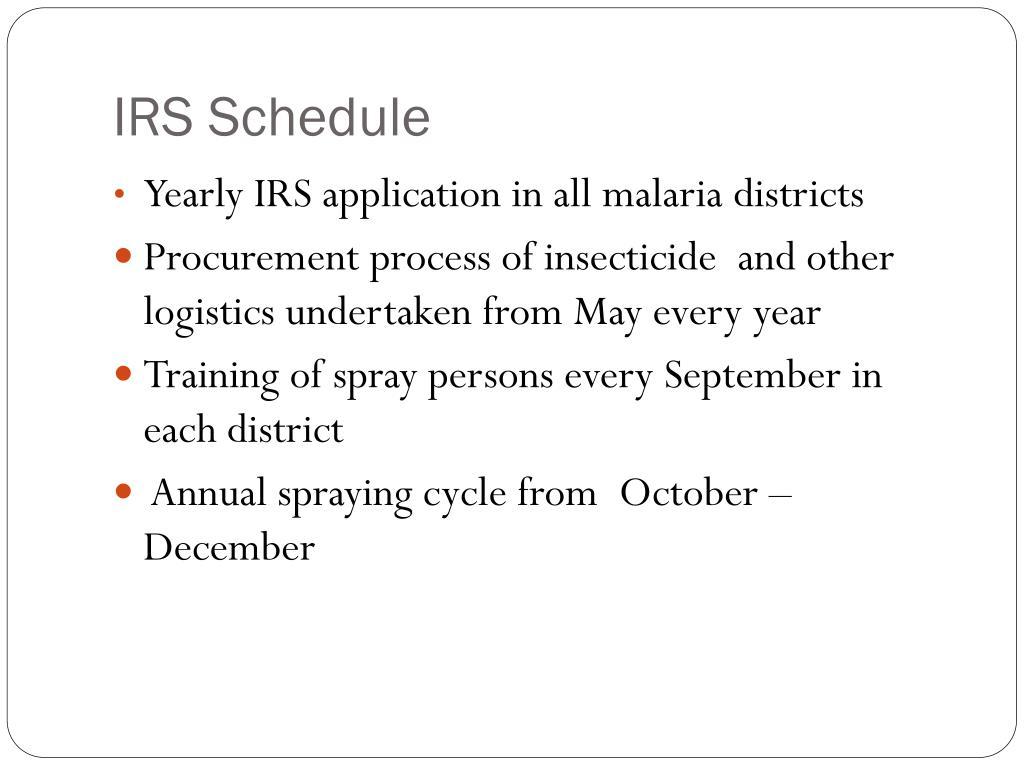 IRS Schedule