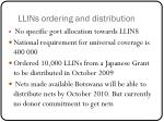 llins ordering and distribution