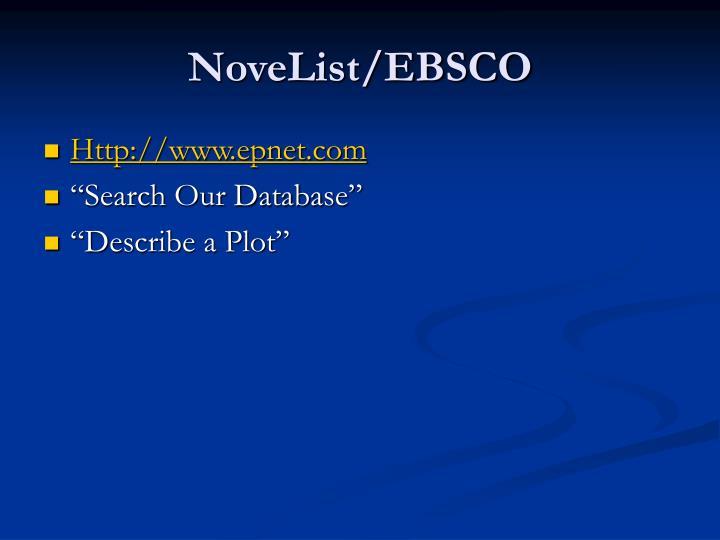 NoveList/EBSCO
