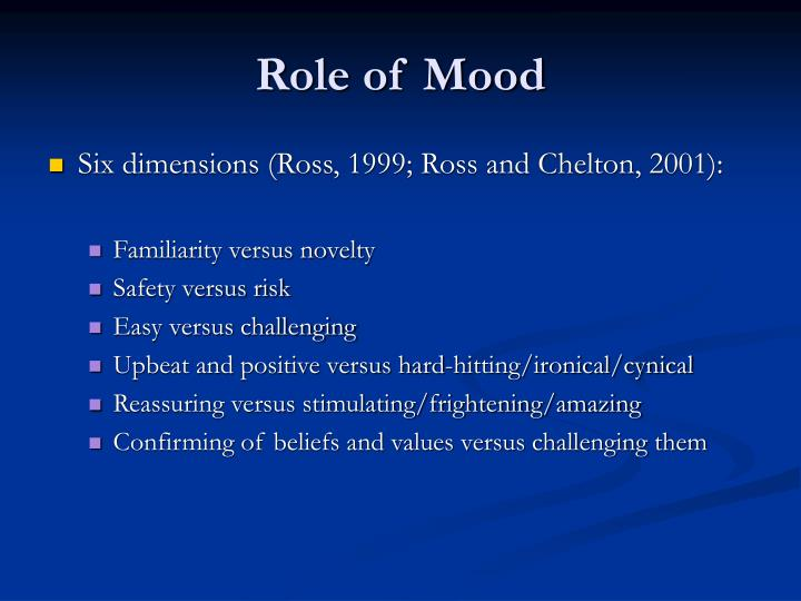 Role of Mood