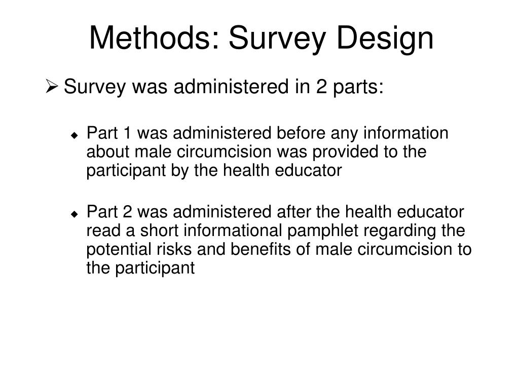 Methods: Survey Design