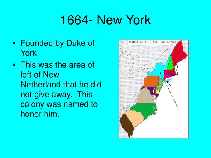 1664- New York