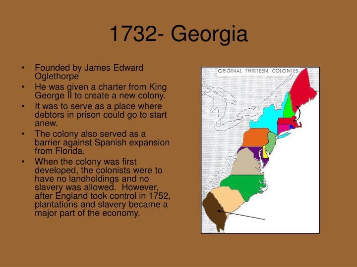 1732- Georgia