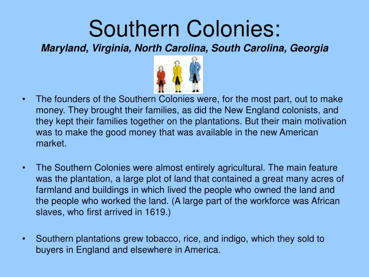 Southern Colonies: