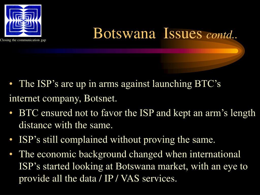Botswana  Issues