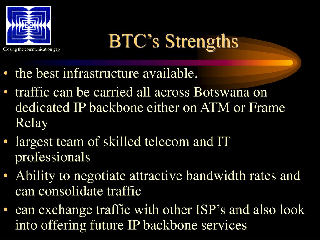 BTC's Strengths