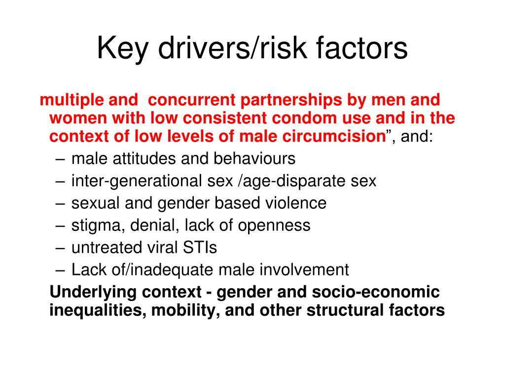 Key drivers/risk factors