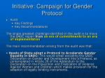 initiative campaign for gender protocol