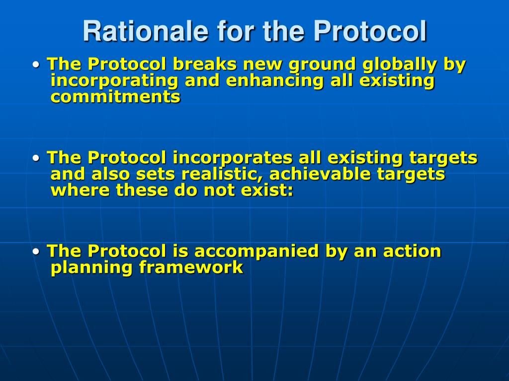 Rationale for the Protocol