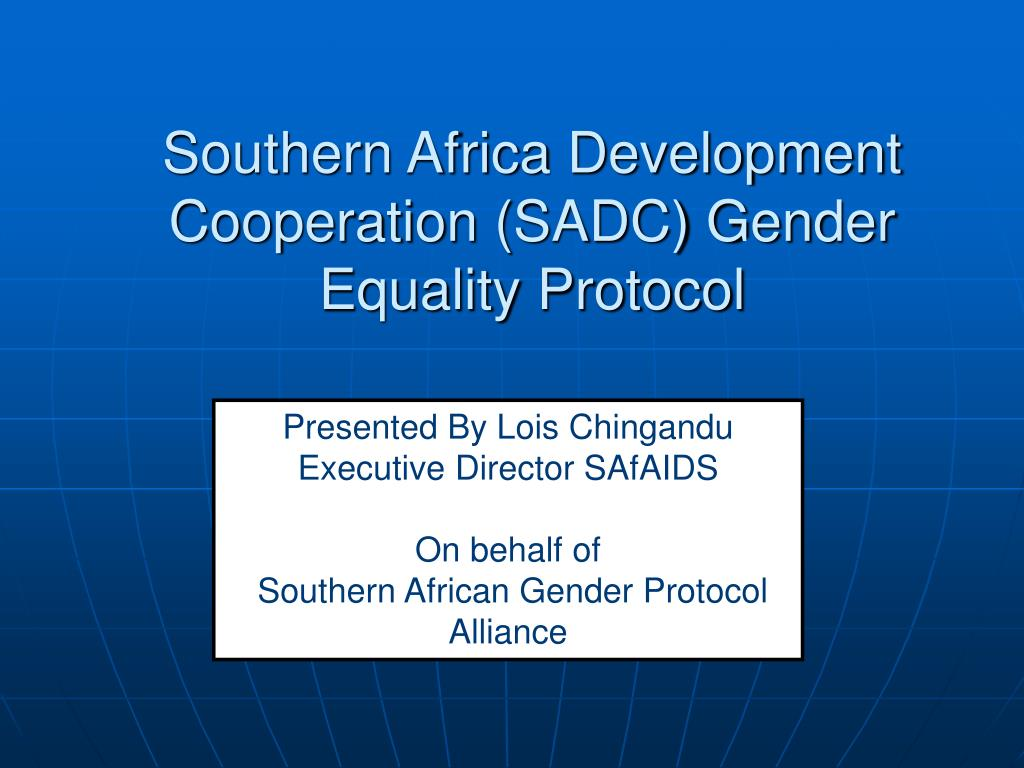southern africa development cooperation sadc gender equality protocol