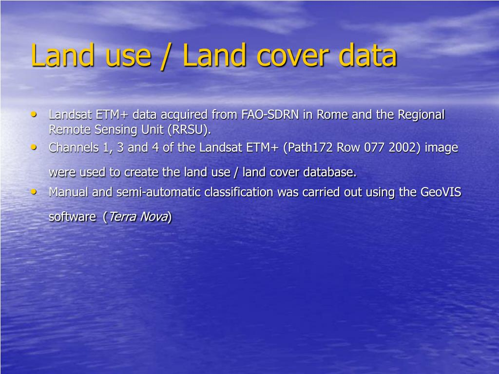 Land use / Land cover data