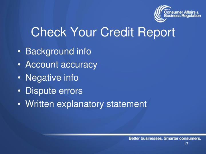 Check Your Credit Report