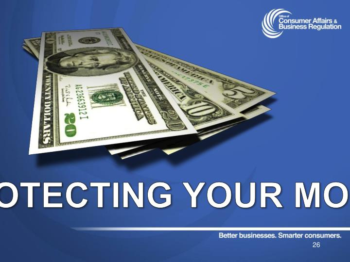Protecting your money