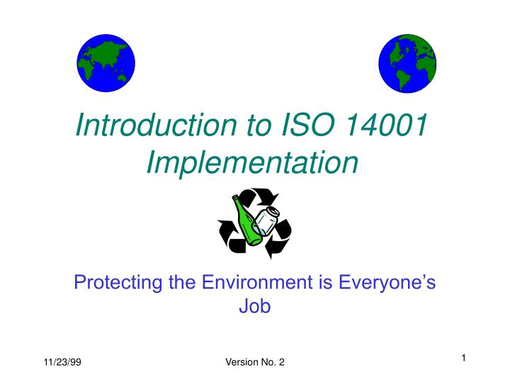 Introduction to ISO 14001 Implementation