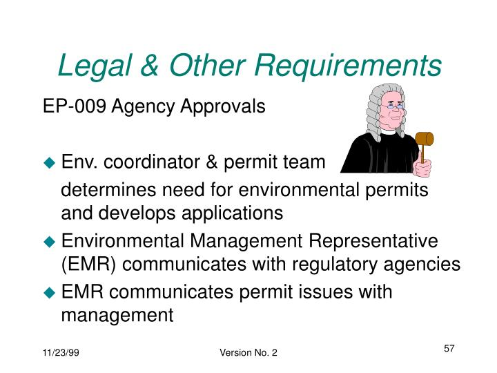 Legal & Other Requirements