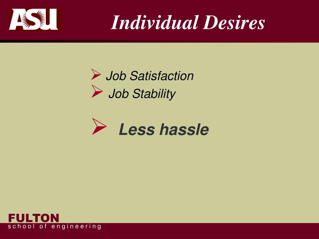 Individual Desires