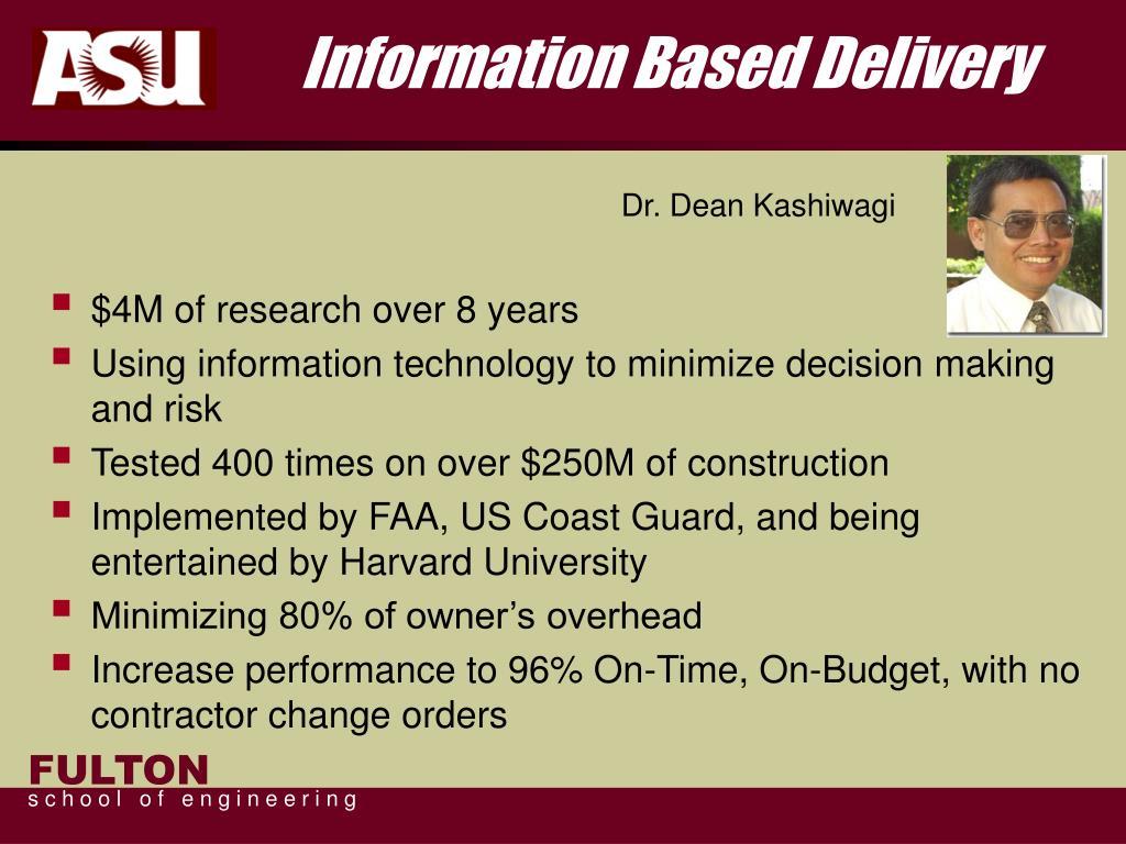 Information Based Delivery