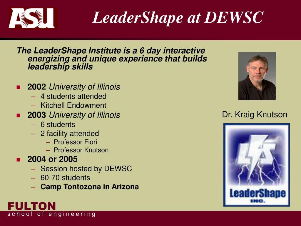 LeaderShape at DEWSC
