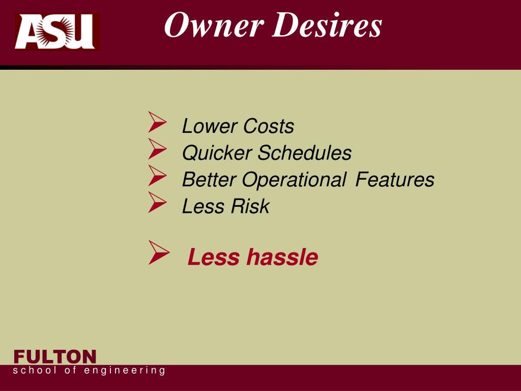 Owner Desires