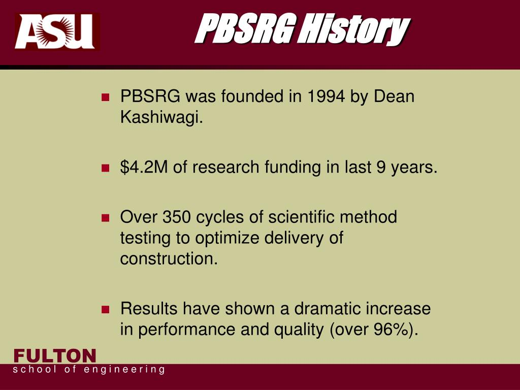 PBSRG History