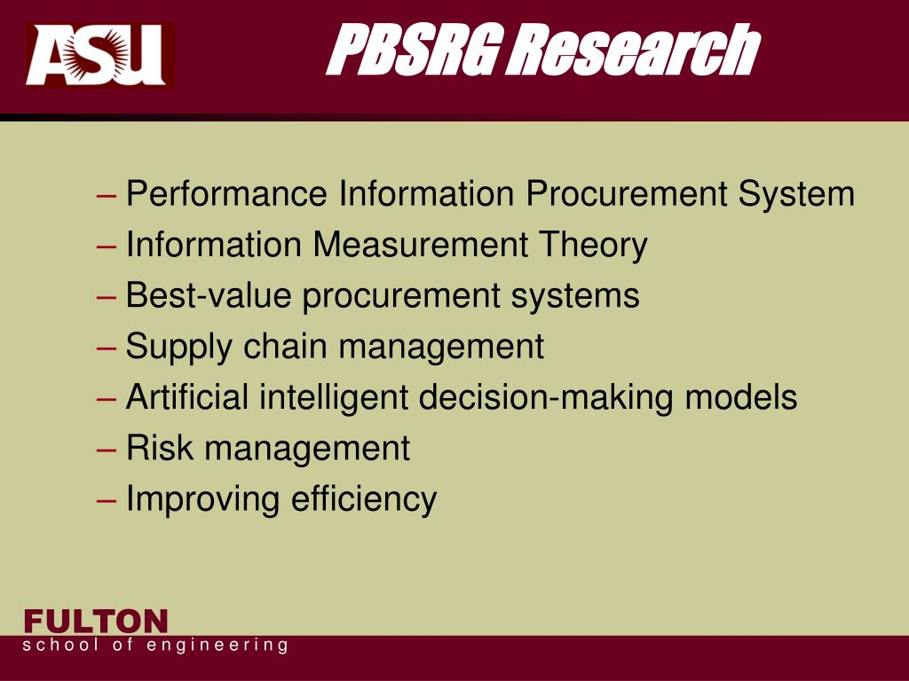 PBSRG Research