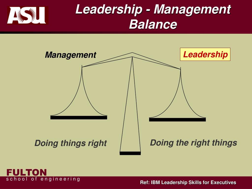 Leadership - Management Balance