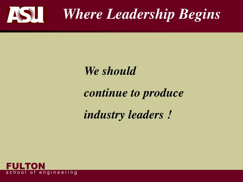 Where Leadership Begins