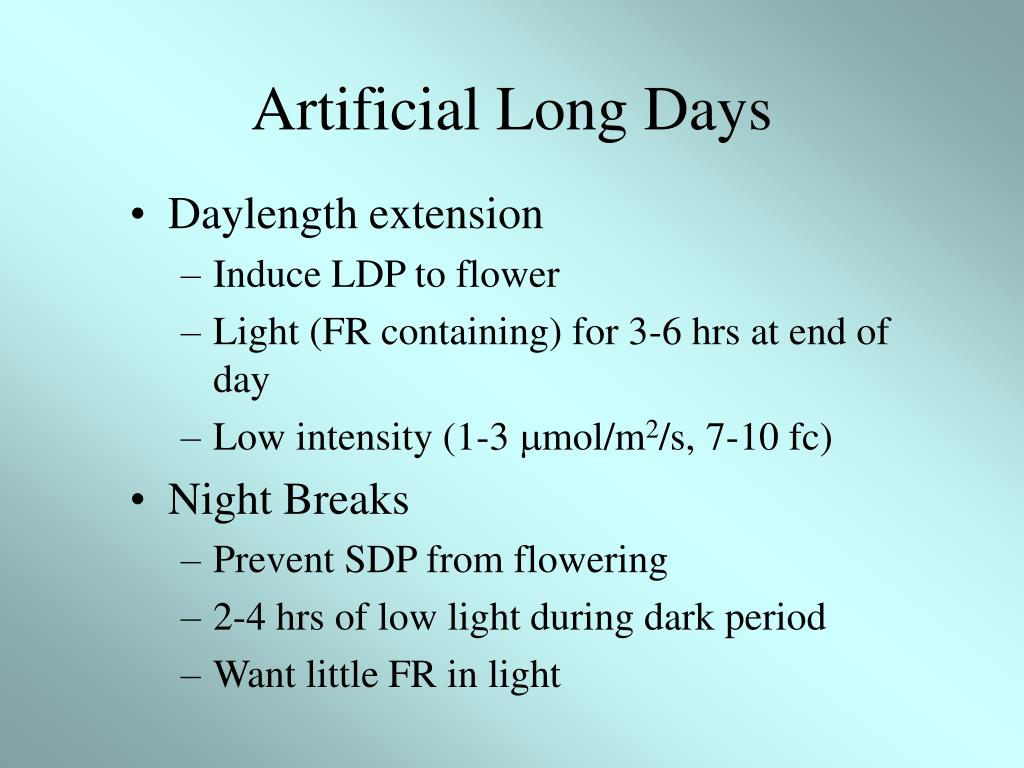 Artificial Long Days