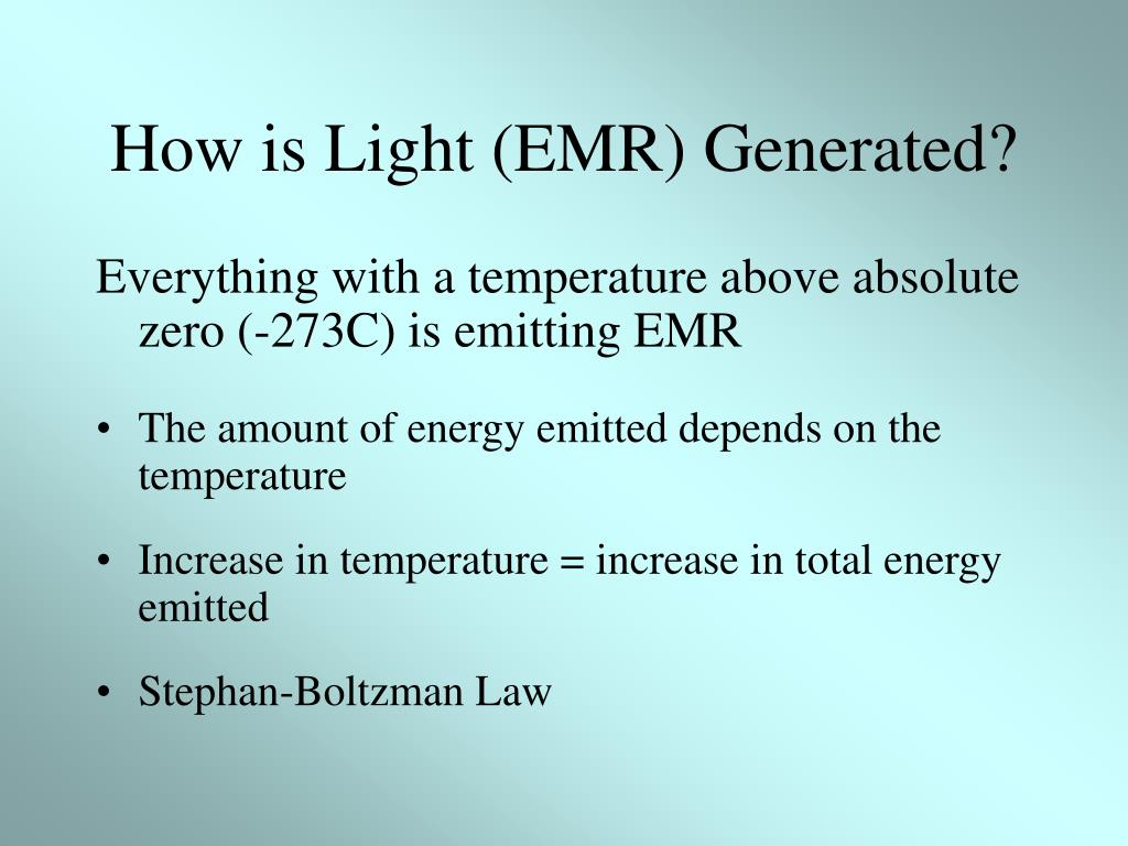 How is Light (EMR) Generated?