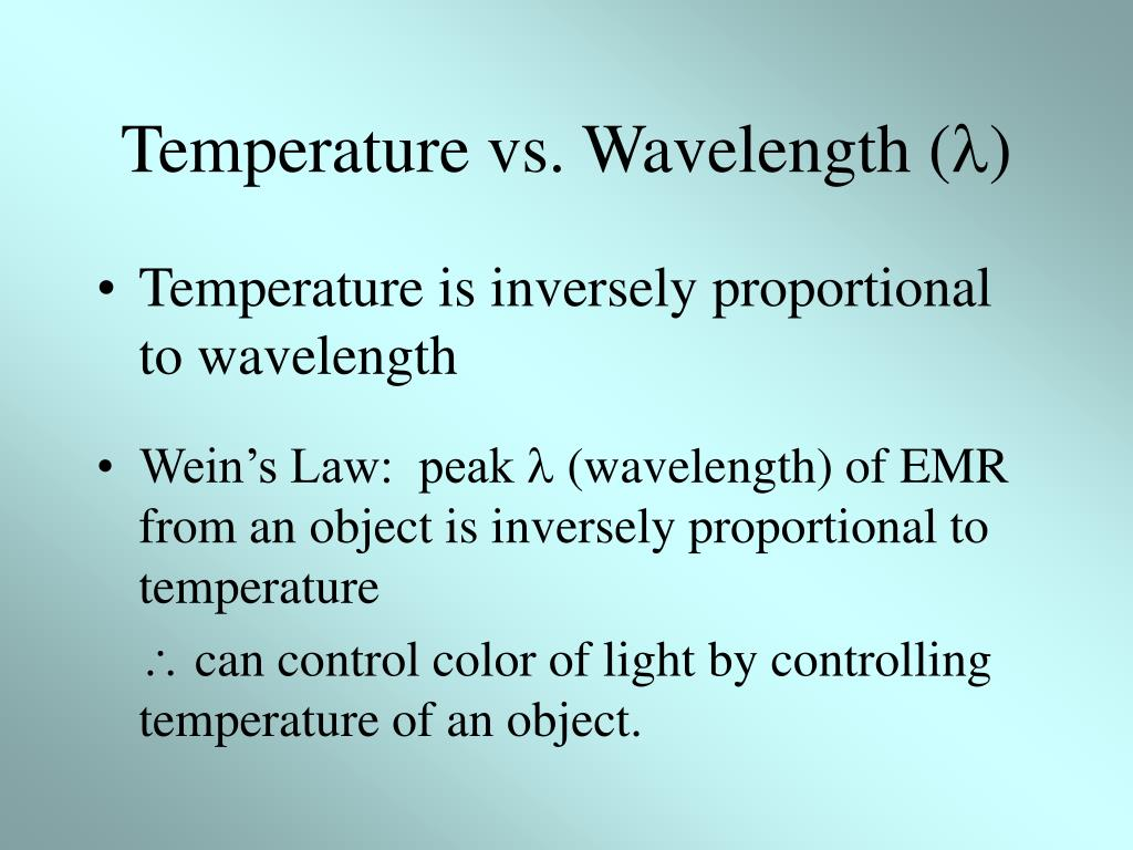 Temperature vs. Wavelength (
