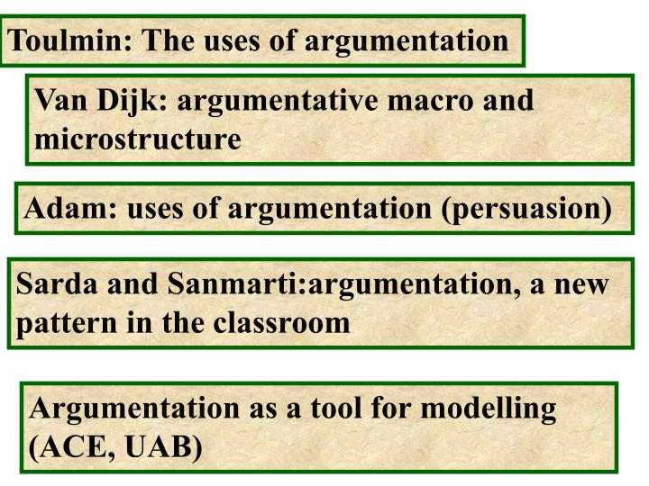 Toulmin: The uses of argumentation