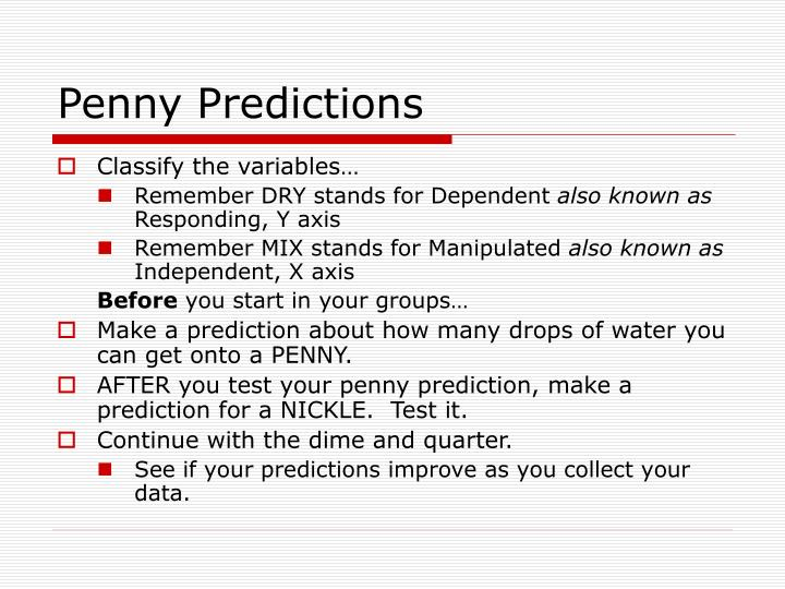 Penny Predictions