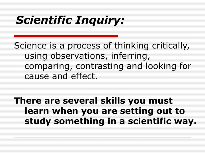 scientific inquiry