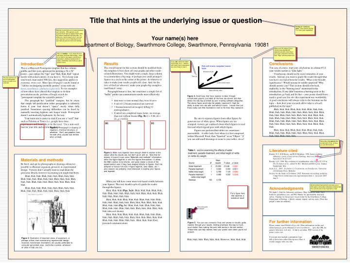 I sure wish I'd presented my theory with a poster before I wrote my book.