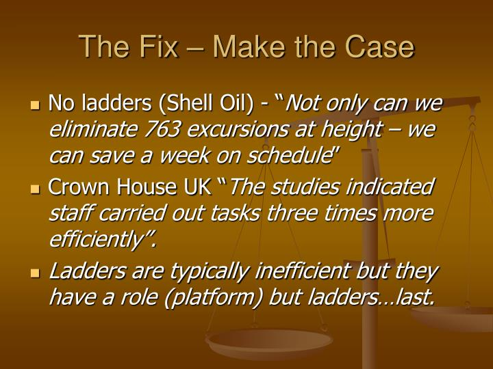 The Fix – Make the Case