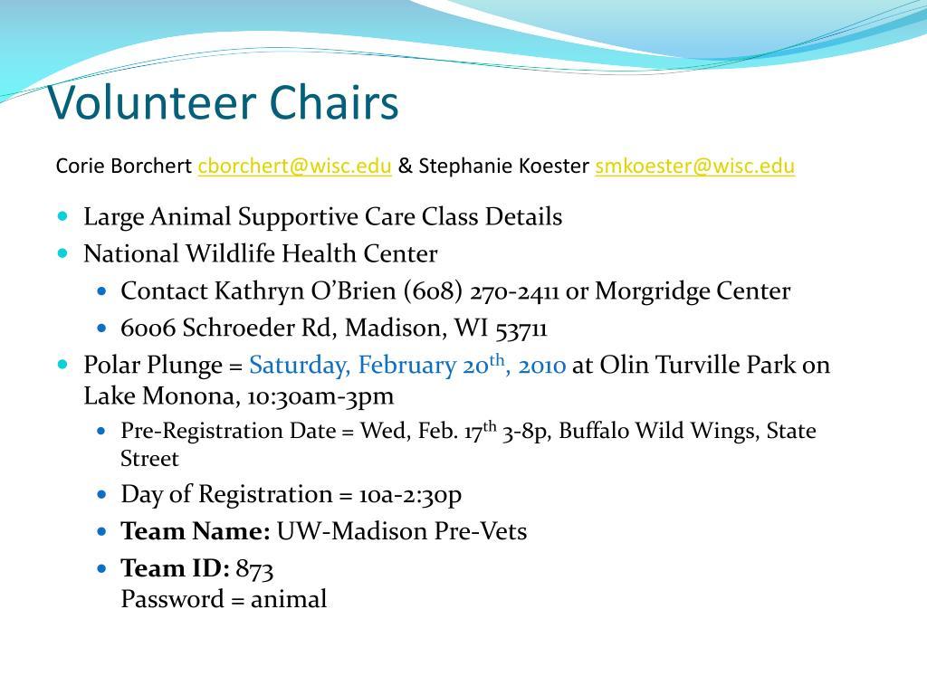Volunteer Chairs