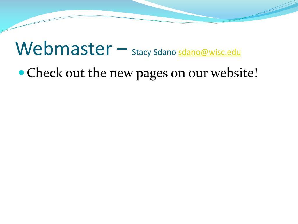 Webmaster –