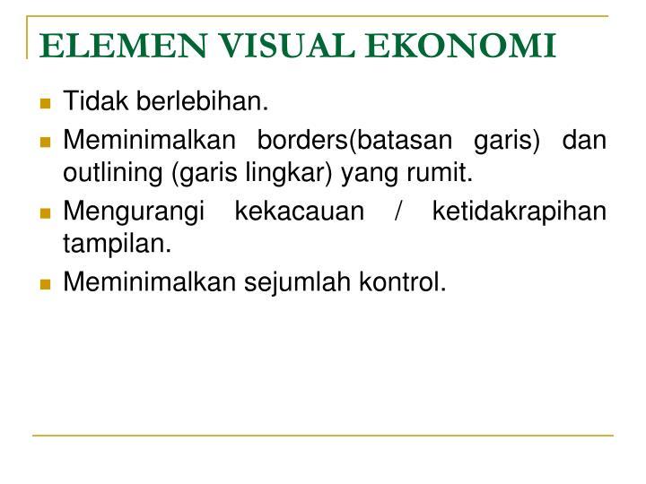 ELEMEN VISUAL EKONOMI