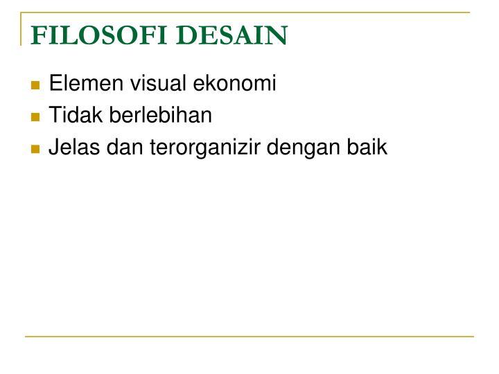 FILOSOFI DESAIN