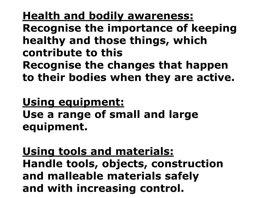 Health and bodily awareness: