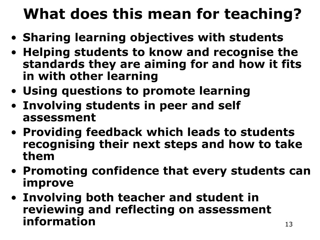 What does this mean for teaching?