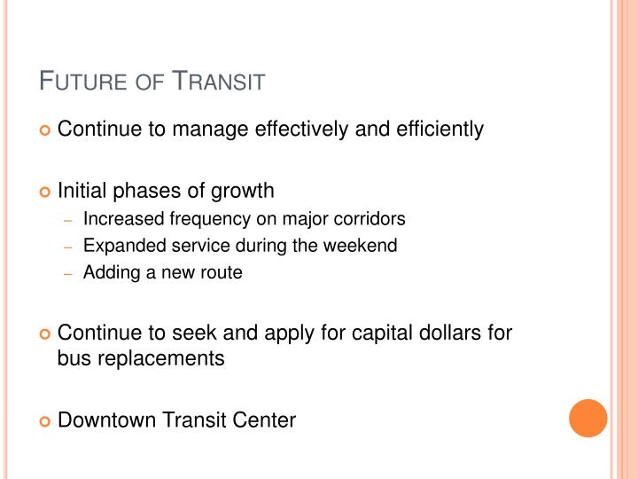 Future of Transit