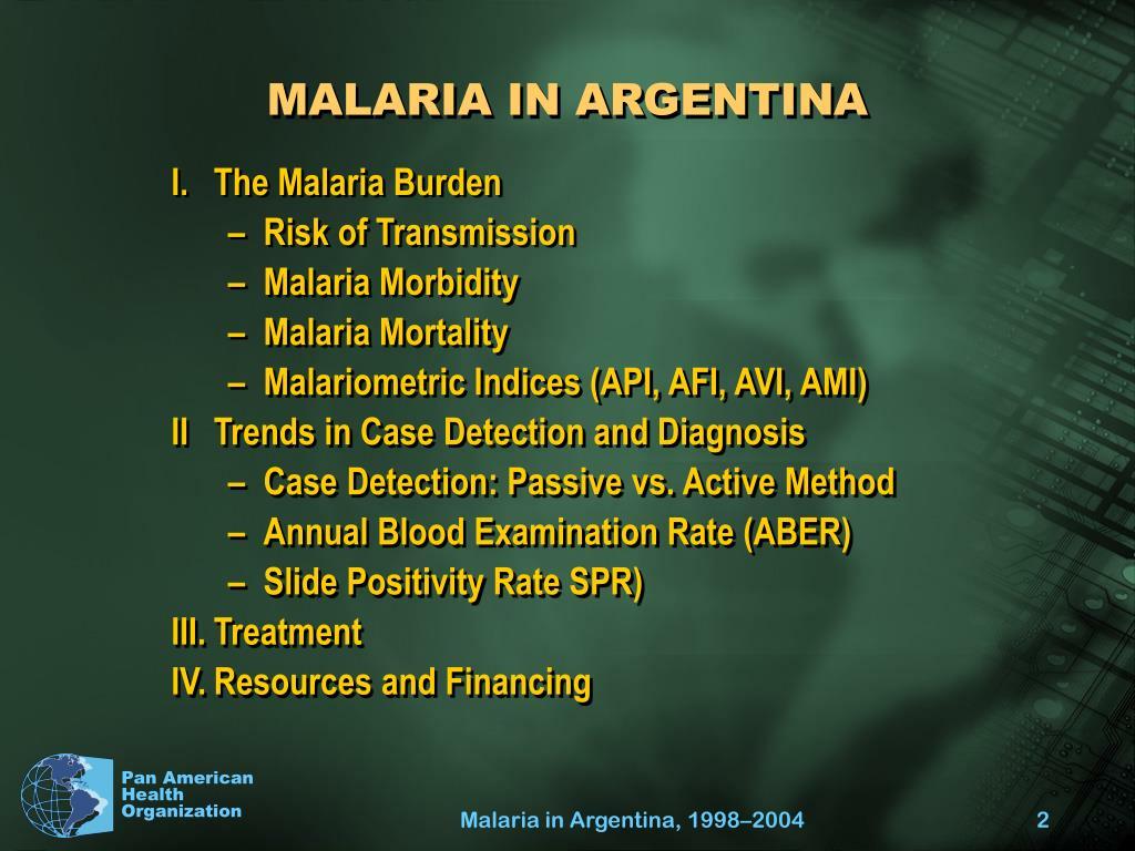 MALARIA IN ARGENTINA