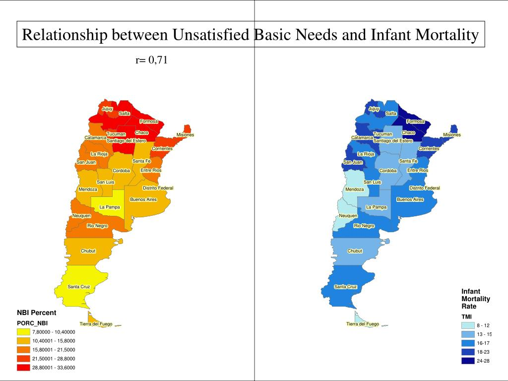 Relationship between Unsatisfied Basic Needs and Infant Mortality