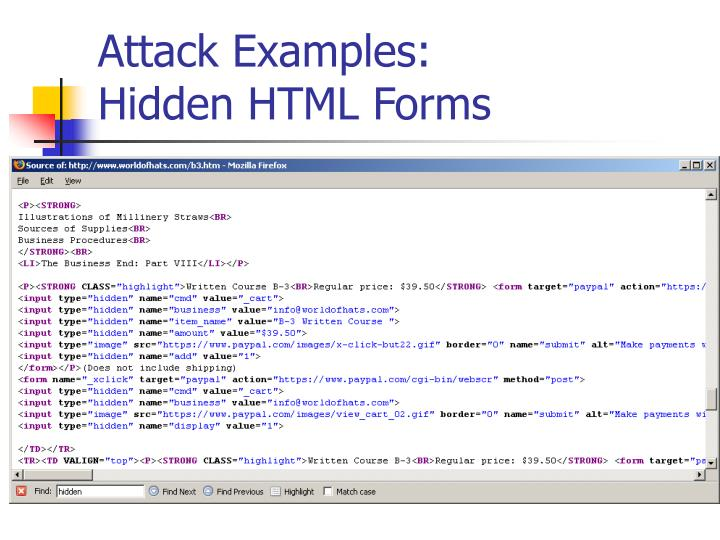 Attack Examples: