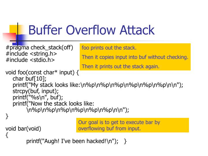 Buffer Overflow Attack