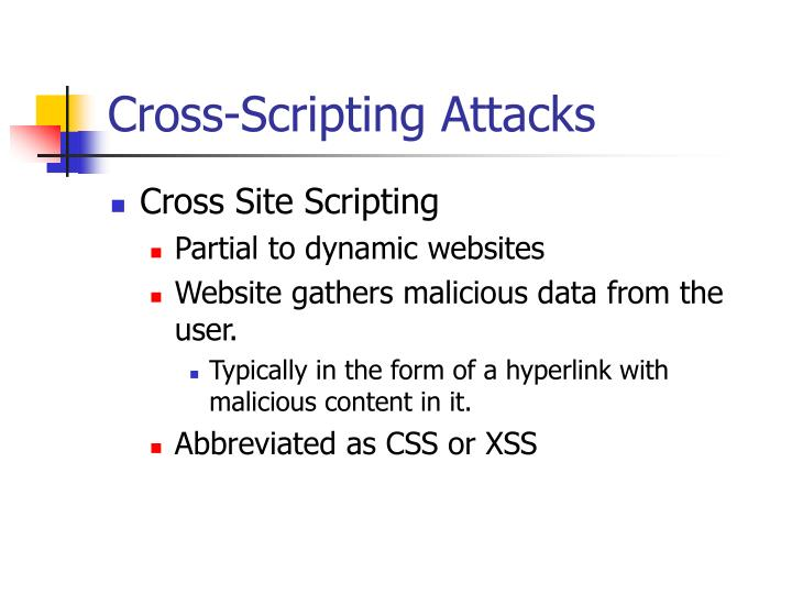 Cross-Scripting Attacks