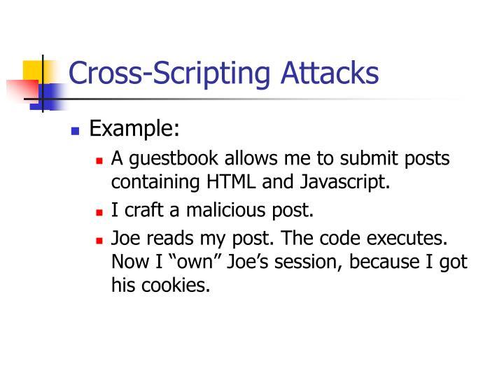 Cross-Scripting Attacks