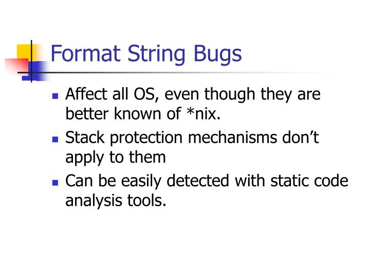 Format String Bugs